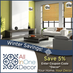 Recieve 5% off your entire order!  Coupon Code:  Decor