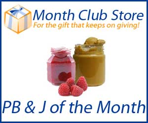 Peanut Butter and Jelly of the Month Club at MonthClubStore.com