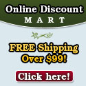 OnlineDiscountMart.com- Free Shipping on All Orders Over $99! Click here!