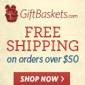 Free Shipping on $50+ at Giftbaskets.com