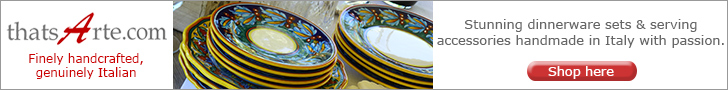 Handmade and Hand Painted Italian Dinnerware and Tableware