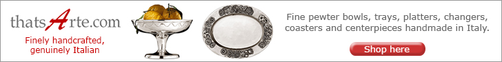 Hand Crafted Italian Pewter Tabletop and Flatware