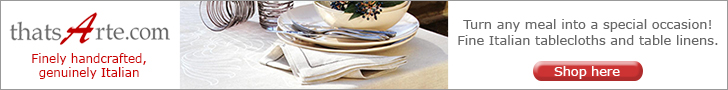 Fine Italian Table Linens: tablecloths, napkins, placemats and runners