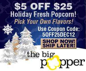 $5 OFF ANY PURCHASE $25 OR MORE - THEBIGPOPPER.COM