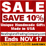 Surprise Sale...Save 10% off Unique Handmade Gifts, Made in USA...Use Coupon Code SAVE10NV