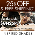 Get 20% Off + Free Shipping at Inspired Shades!