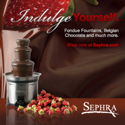 Try a Sephra chocolate fondue fountain today!