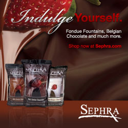Try Sephra's Imported Belgian, Premium & Chocolate Fondue Melts