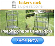 Shope at the Bakers Rack Store Today!