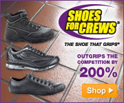 Get the ultimate slip resistant footwear from Shoes For Crews. It's the only shoe that really grips.