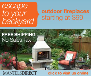 Outdoor Fireplaces - Free Shipping