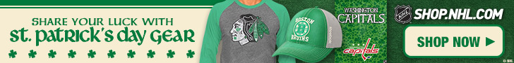 Shop for official team logo St. Patrick\'s Day Gear from Shop.NHL.com