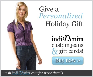 indiDenim Give A Personalized Holiday Gift