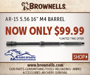 Brownells presents Aero Precision AR-15 Stripped Upper Receiver now only $57.99!Brownells presents Anderson Manufacturing AR-15 5.56 16