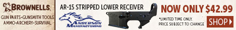 Brownells presents Anderson Manufacturing AR-15 Stripped Lower Receiver now only $49.99!