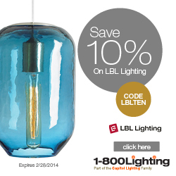Save 10% on LBL Lighting with code LBLTEN at 1800lighting.com!