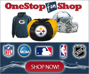 One Stop Fan Shop, for all your sports gear Look Now