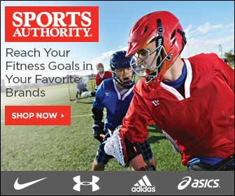 Free Shipping on all orders $89+ at SportsAuthority.com!  Exclusions Apply.
