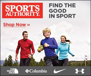 Shipping on the big stuff as low as $19.99 at SportsAuthority.com! Exclusions Apply.