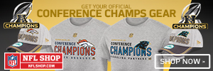 Shop for Broncos and Panthers Conference Champs Gear at NFLShop.com