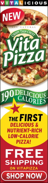 New! 190-Calorie VitaPizza- Get Free Shipping