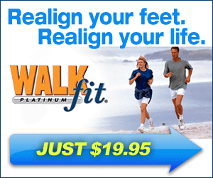 Realign Your Feet & Your Life with WALK Platinum Fit! Reflexology massage insert! Realigns your spine and pelvic area to reduce knee, hip and lower back pain. Independent clinical study showed Walkfit® technology relieved foot pain in 90% of users.