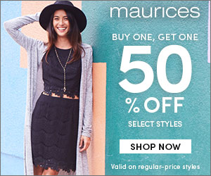 BOGO 50% off Select Styles @ maurices.com!