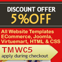5% discount coupon on website templates