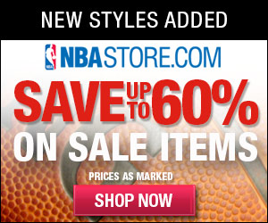 Get Free Shipping (U.S. Only) on all Orders at NBAStore.com   through 9/1 with code NBAFREESHIP
