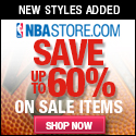 Save up to 60% on Clearance Merchandise in the NBAStore.com Winter Clearance