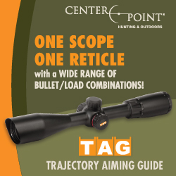 One Scope. One Reticle. The TAG Trajectory Aiming Guide from CenterPoint Hunting & Outdoors.