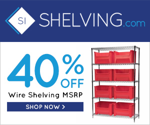 40% Off Wire Shelving MSRP at Shelving.com! No code needed. Not valid on previous purchases, gift certificates, or when combined with other offers.