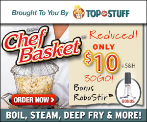 The Chef Basket as seen on TV get it Now & Receive a Bonus Robo Stir Hurry!