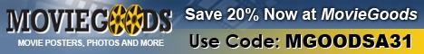 Save 20% at MovieGoods