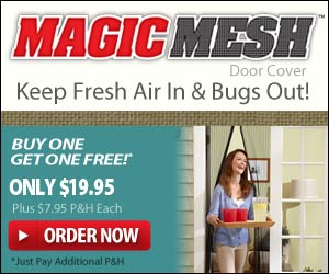 Keep Fresh Air In and Bugs Out With Magic Mesh! As seen on TV