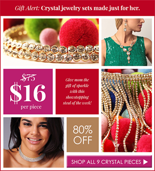 Steal of the Week: $16 Crystal Jewelry