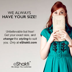 eShakti, Custom Clothing, size 0-36W and Custom, Dresses, Fall 2012