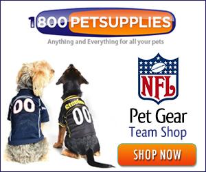 Shop the NFL Pet Gear Team Shop!