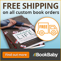 Get FREE SHIPPING on all custom printed books at BookBaby.