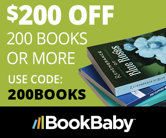 Save $200 on 200 books or more when you shop at BookBaby.com to make your custom printed books. Limited time offer. Cannot be combined with any other offer.