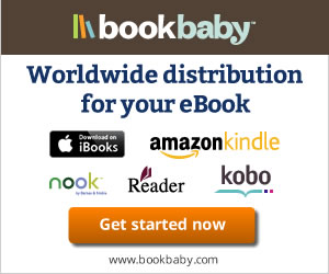 Worldwide distribution at 60+ stores for your eBook at Bookbaby.com.