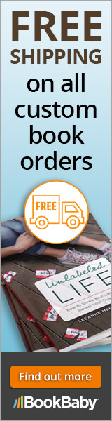 Get FREE SHIPPING on all custom printed book orders of 25 or more at BookBaby.com
