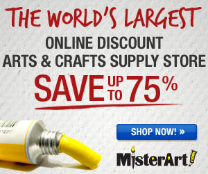 Save Big on Thousands of Art & Craft Supplies, Now up to 75% Off at Misterart.com! The World's Largest Online Discount Arts and Crafts Supply Store.