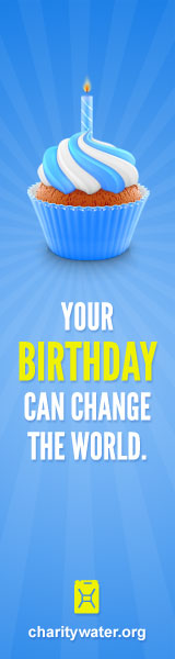 Give up your next birthday and bring clean water to people in need