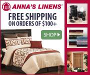 Anna's Linens: Free shipping on orders of $100+