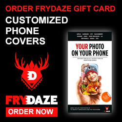 ORDER YOUR CHRISTMAS GIFTCARD FROM FRYDAZE.COM TODAY