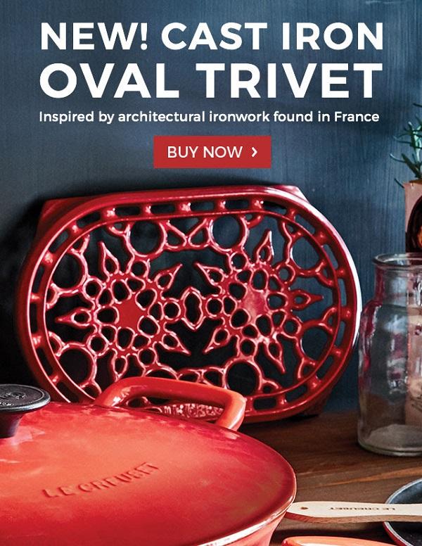 New! Cast Iron Oval Trivet at LeCreuset.com!