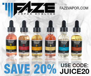 New Premium E-Liquids from Faze Vapor
