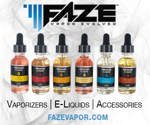 FAZE - Vaporizers, E-Juice and Accessories by Faze Vapor