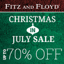 Fitz and Floyd Christmas in July 2016